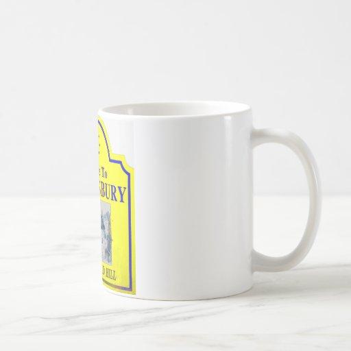 Azul amarillo de Shaftesbury Taza De Café