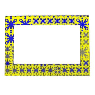 azul amarillo del modelo 05 dulces marcos magneticos de fotos
