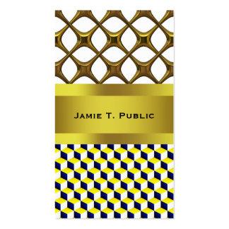 Azul, amarillo, el blanco sombreó los cubos de la tarjetas de visita