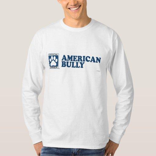Azul americano del matón playera