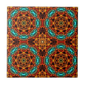 Azul anaranjado del extracto de la baldosa azulejo cuadrado pequeño