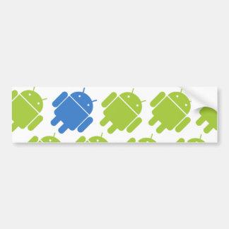 Azul androide que vuela pegatina para auto