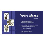Azul animal múltiple de las tarjetas de visita del