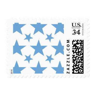 Azul apacible de la estrella 2 sellos