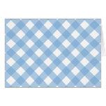 Azul apacible de la tela escocesa 1 tarjeta