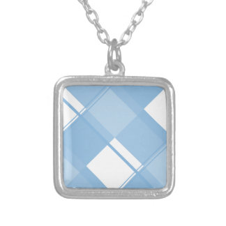 Azul apacible de la tela escocesa 3 joyerías