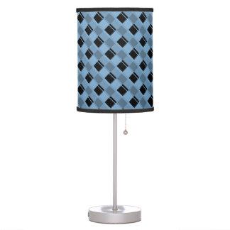 Azul apacible de la tela escocesa 3 lámpara de escritorio