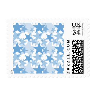 Azul apacible de las estrellas 3 timbre postal