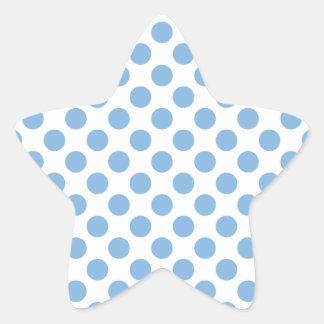 Azul apacible de los lunares pegatina en forma de estrella