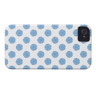 Azul apacible del estampado de plores 2 Case-Mate iPhone 4 carcasas