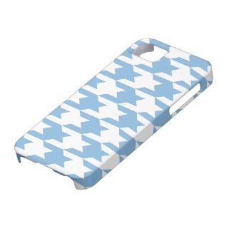 Azul apacible del modelo 1 de Houndstooth iPhone 5 Case-Mate Funda