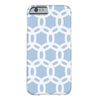 Azul apacible del modelo retro elegante elegante funda de iPhone 6 barely there