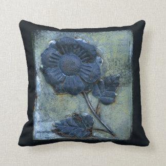 Azul apenado oxidado de la textura del girasol del cojines