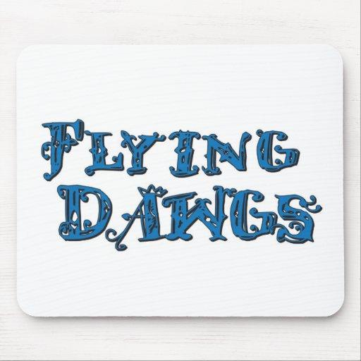 Azul apilado Dawgs del logotipo del vuelo Alfombrilla De Raton