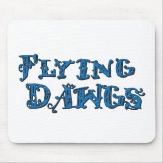 Azul apilado Dawgs del logotipo del vuelo Tapetes De Ratones