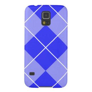 Azul Argyle del bígaro Fundas Para Galaxy S5