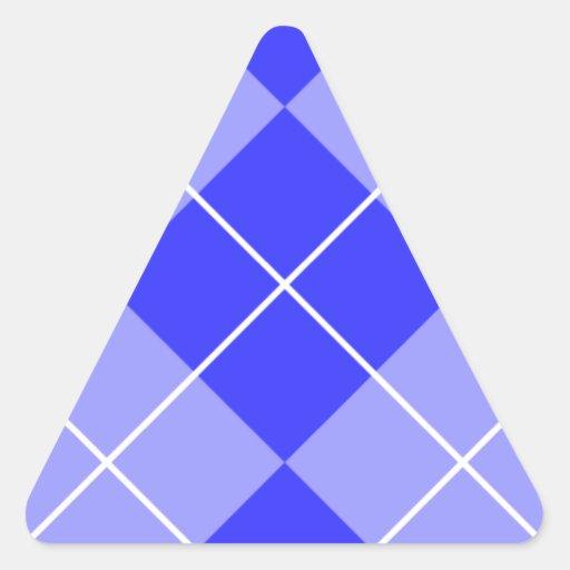 Azul Argyle del bígaro Calcomanía De Triangulo Personalizadas