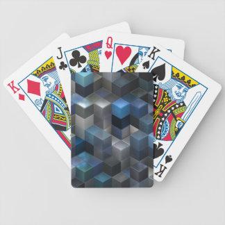 azul artístico de los cubos 9 (i) cartas de juego