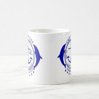 azul auténtico del logotipo del compañero de a taza clásica