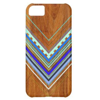 Azul azteca del Arbutus Funda Para iPhone 5C