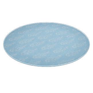 Azul azul claro del modelo de Nouveau del arte Tablas De Cortar