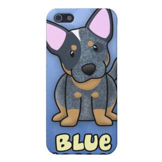 Azul azul Heeler del dibujo animado iPhone 5 Cárcasas