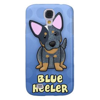 Azul azul Heeler del dibujo animado Samsung Galaxy S4 Cover