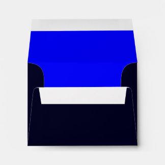Azul azul marino/real del sobre A2