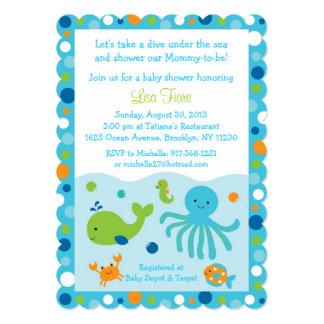 Azul bajo invitaciones de la fiesta de bienvenida comunicados