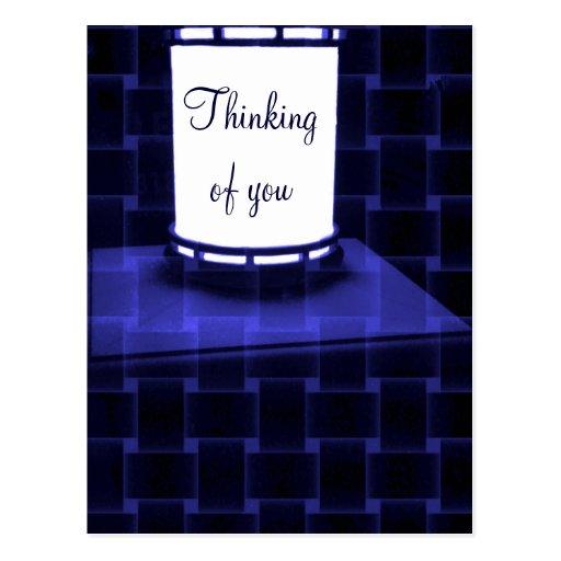 Azul bajo light_ tarjeta postal