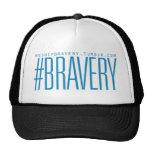 Azul básico del #Bravery Gorros Bordados