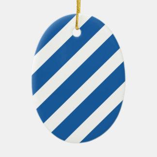 Azul básico del deslumbramiento de la raya 1 ornaments para arbol de navidad