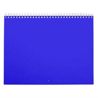Azul bendecido de la madre calendario de pared