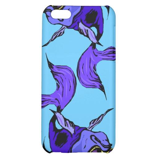 azul beta de la púrpura real de los pescados de Be