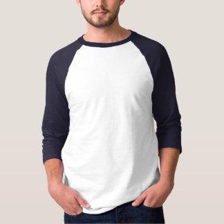 Azul blanco básico de la camiseta del raglán de la polera