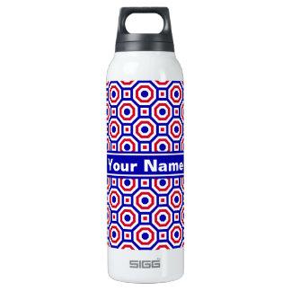 Azul/blanco/botella terma jerarquizada roja del