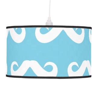 Azul blanco del bigote lámpara de techo