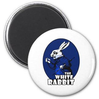 Azul blanco del logotipo del conejo iman