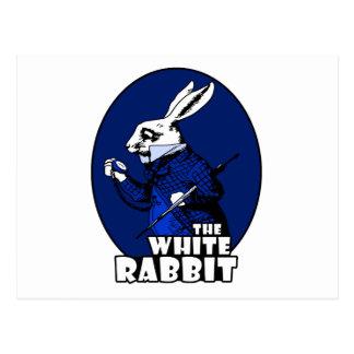 Azul blanco del logotipo del conejo postal
