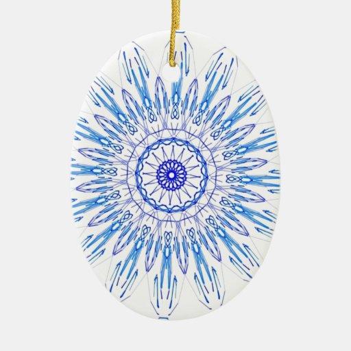 azul blanco del ornamento ornamento para reyes magos