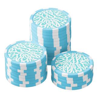 Azul blanco náutico del modelo del arrecife de fichas de póquer