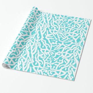 Azul blanco náutico del modelo del arrecife de papel de regalo
