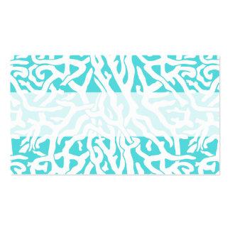 Azul blanco náutico del modelo del arrecife de tarjetas de visita
