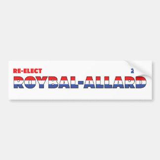 Azul blanco rojo de las elecciones de Roybal-Allar Etiqueta De Parachoque
