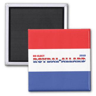 Azul blanco rojo de las elecciones de Roybal-Allar Imanes