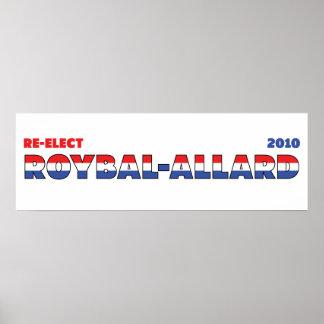 Azul blanco rojo de las elecciones de Roybal-Allar Impresiones