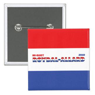 Azul blanco rojo de las elecciones de Roybal-Allar Pins