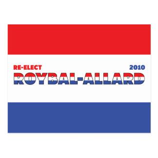 Azul blanco rojo de las elecciones de Roybal-Allar Tarjeta Postal