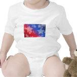 Azul blanco rojo de las estrellas patrióticas de l traje de bebé