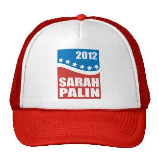 Azul blanco rojo de Sarah Palin Gorro
